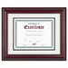 World Class Document Frame w/Certificate, Walnut, 11 x 14""