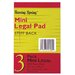 <strong>50 Sheet Mini Legal Pad</strong> by Roaring Spring Paper Products
