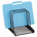 Mesh Flip File Folder Sorter, 5 Sections, Black, 7 4/5 x 1 7/8 x 10 2/5