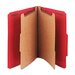 <strong>Smead Manufacturing Company</strong> Pressboard Classification Folders, Letter, 6-Section, Bright Red, 10/bx