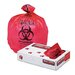 "Unisan Health Care ""Bio-hazard"" Printed Liners, 1.3mil, 33 x 39, Red, 150 per Carton"