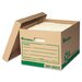 <strong>Recycled Record Storage Box, 4/Carton</strong> by Universal®