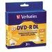 Verbatim Corporation Dual-Layer Dvd-R Discs, 8.5Gb, 4X, 3/Pack
