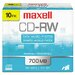 Maxell Corp. Of America Cd-Rw Discs, 700Mb/80Min, 4X, 10/Pack