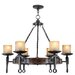<strong>Cape May 6 Light Candle Chandelier</strong> by Livex Lighting
