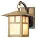 Montclair Mission  Outdoor Wall Lantern in Vintage Brass