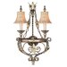 Pamplona  Wall Sconce in Palacial Bronze with Gilded Accents