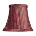Striped Silk Bell Clip Chandelier Shade in Burgundy