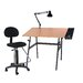 Martin Universal Design Berkeley 4 Piece Melamine Drafting Table Set with Chair
