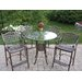 Oakland Living Hummingbird Elite 5 Piece Bar Height Dining Set