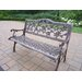 English Rose Aluminum Garden Bench