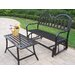 <strong>Oakland Living</strong> Rochester 2 Piece Bench Seating Group Set