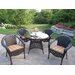 Resin Wicker Dining Set with Cushions by Oakland Living