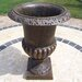 Oakland Living Iron Roman Round Urn Planter