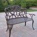 Oakland Living Hummingbird Aluminum Garden Bench
