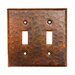 <strong>Premier Copper Products</strong> Copper Switchplate Double Toggle Switch Cover in Oil Rubbed Bronze