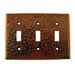 <strong>Copper Switchplate Triple Toggle Switch Cover in Oil Rubbed Bronze</strong> by Premier Copper Products