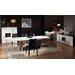 Diamond Sofa Steel Dining Table
