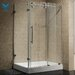 Sliding Door Frameless Shower Enclosure with Base