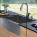 "30"" x 22.25"" Farmhouse Single Bowl Kitchen Sink with Faucet and Soap Dispenser in Satin"