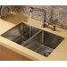 """Vigo One Handle Single Hole Pull-Out Spray Kitchen Faucet with 13"""" Spout"""