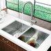 "32"" x 19"" Equal Double Bowl Zero Radius 16 Gauge Undermount Kitchen Sink"