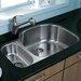 "<strong>31.75"" x 20.88"" Double Bowl D Shaped Undermount Kitchen Sink</strong> by Vigo"