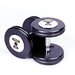 Troy Barbell 17.5 lbs Pro-Style Cast Dumbbells in Black