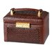 Paris Weave Medium Sized Jewelry Box in Genuine Leather