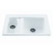 "Reliance 33"" x 22.25"" Advantage Double Bowl Kitchen Sink"