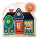 <strong>First Shapes Jumbo Wooden Knob Puzzle</strong> by Melissa and Doug