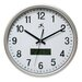 Datekeeper Wall Clock in Silver