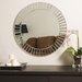 "27.6"" H x 27.6"" W Fortune Modern Frameless Beveled Wall Mirror"
