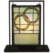 """<strong>Wedding Mini Tabletop Window 10.5"""" H Table Lamp</strong> by Meyda Tiffany"""