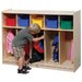 Five-Section Toddler Locker Unit