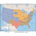 Universal Map U.S. History Wall Maps - Woman's Suffrage Before 19th Ammendment