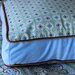 <strong>Modern Vintage Blue Square Cotton Pillow</strong> by Caden Lane
