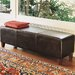 Hudson Leather Low Bench in Dark Brown
