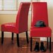 Hudson Leather Dining Chair in Red