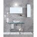 Linea 51.2 x 19.7 Barujo Wall Mount Bathroom Countertop in Sandblasted Glass