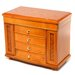 "Josephine 11.5"" High Jewelry Box in Burlwood Oak"