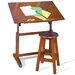 "Studio Designs Creative Hardwood 36""W x 24""D Drafting Table and Stool Set"