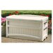 <strong>Resin 73 Gallon Deck Box with Seat and Wheels</strong> by Suncast