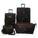 <strong>American Flyer</strong> Fleur De Lis 4 Piece Luggage Set