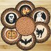 <strong>Earth Rugs</strong> 7 Piece Halloween Trivets in a Basket Set