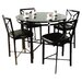 <strong>Hazelwood Home</strong> Dinette 5 Piece Counter Height Set