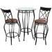 Fancy Three Piece Bistro Table Set in Galaxy Bronze