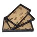 <strong>3 Piece Nested Serving Trays with Butterfly Carte Postal Print Set</strong> by Cheungs