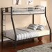 Silver Screen Twin over Full Bunk Bed with Built-In Ladder