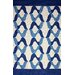 nuLOOM Novel Aldo Blue Indoor/Outdoor Area Rug